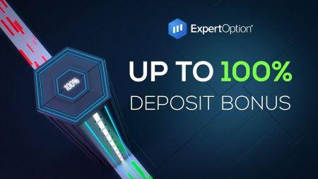 ExpertOption Hoş Geldiniz Promosyonu - 500$'a Kadar %100 Para Yatırma Bonusu